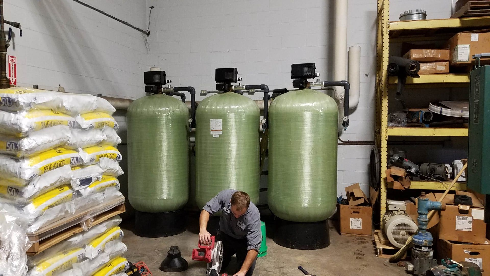 industrial linen facility, industrial water softener upgrade, complete water solutions