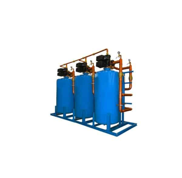 cst industrial series triple water softeners, complete water solutions, cst-210-2