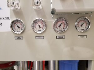 reverse osmosis machine, GE ro machine, GE ro system gauges