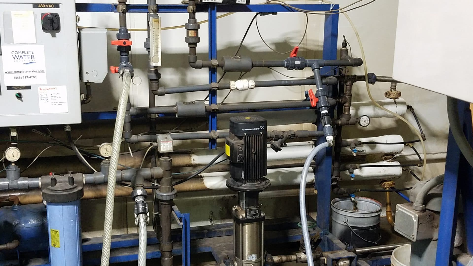 clean in place system, complete water solutions, reverse osmosis system service