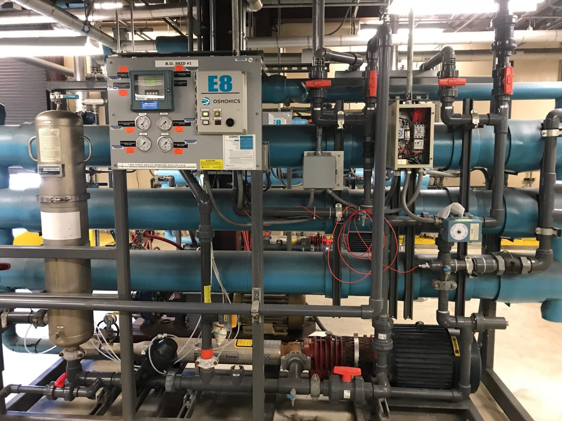 Lakewood 2450 Controller, Allen-Bradley Micrologix 1000, Osmonics RO System