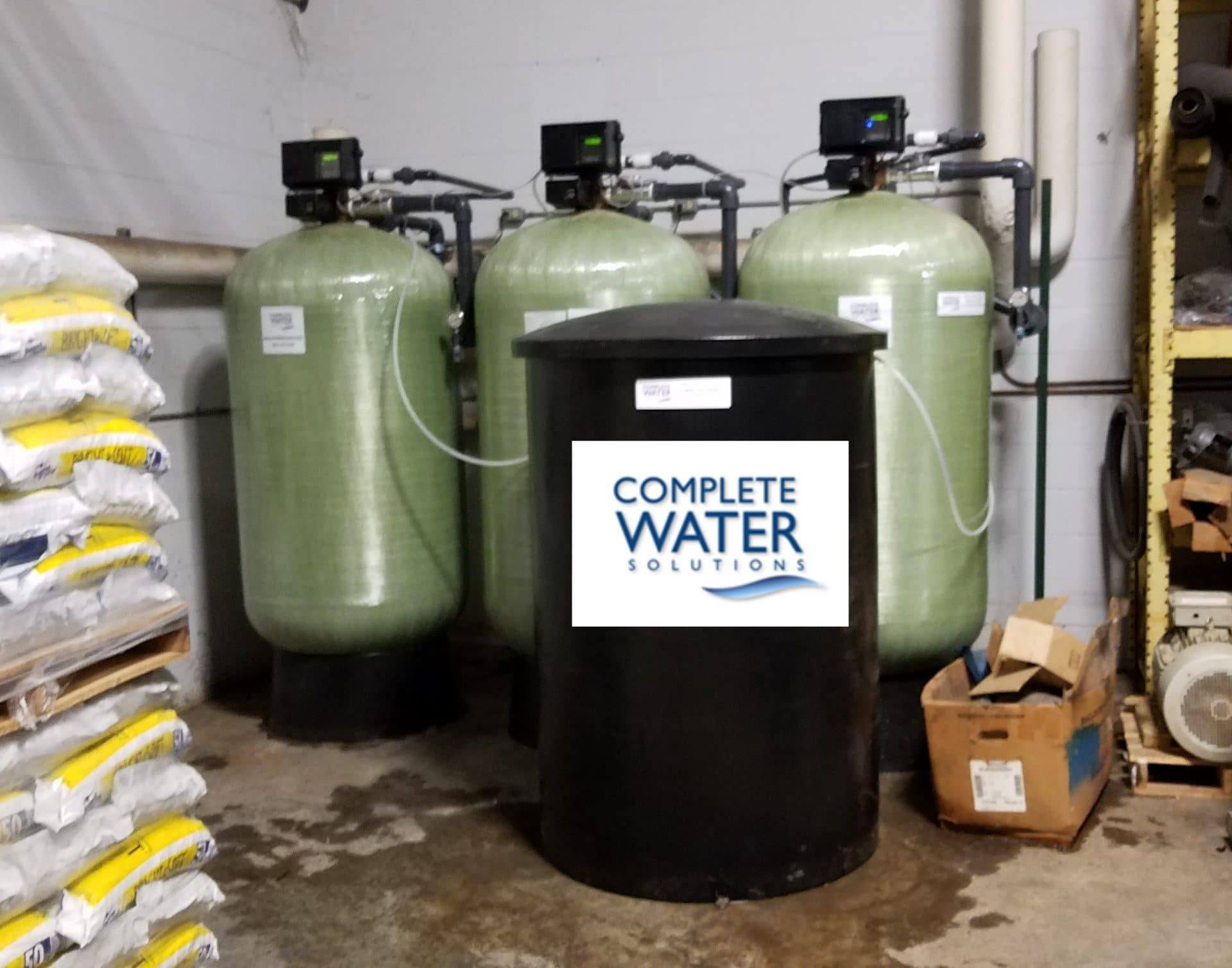 complete water solutions, industrial water softener, industrial water softener upgrade