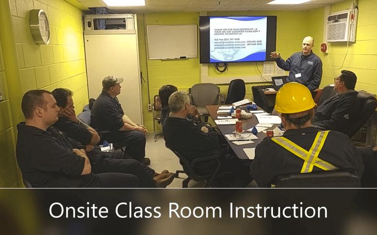 water treatment training, water system training, classroom training ro water