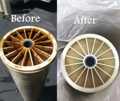 ro membrane cleaning, before and after membrane cleaning, complete water solutions