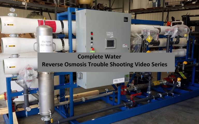 reverse osmosis troubleshooting, complete water solutions, ro troubleshooting