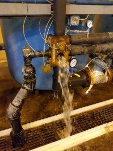 draining softener system, bruner d180 softener system, industrial softener system repair