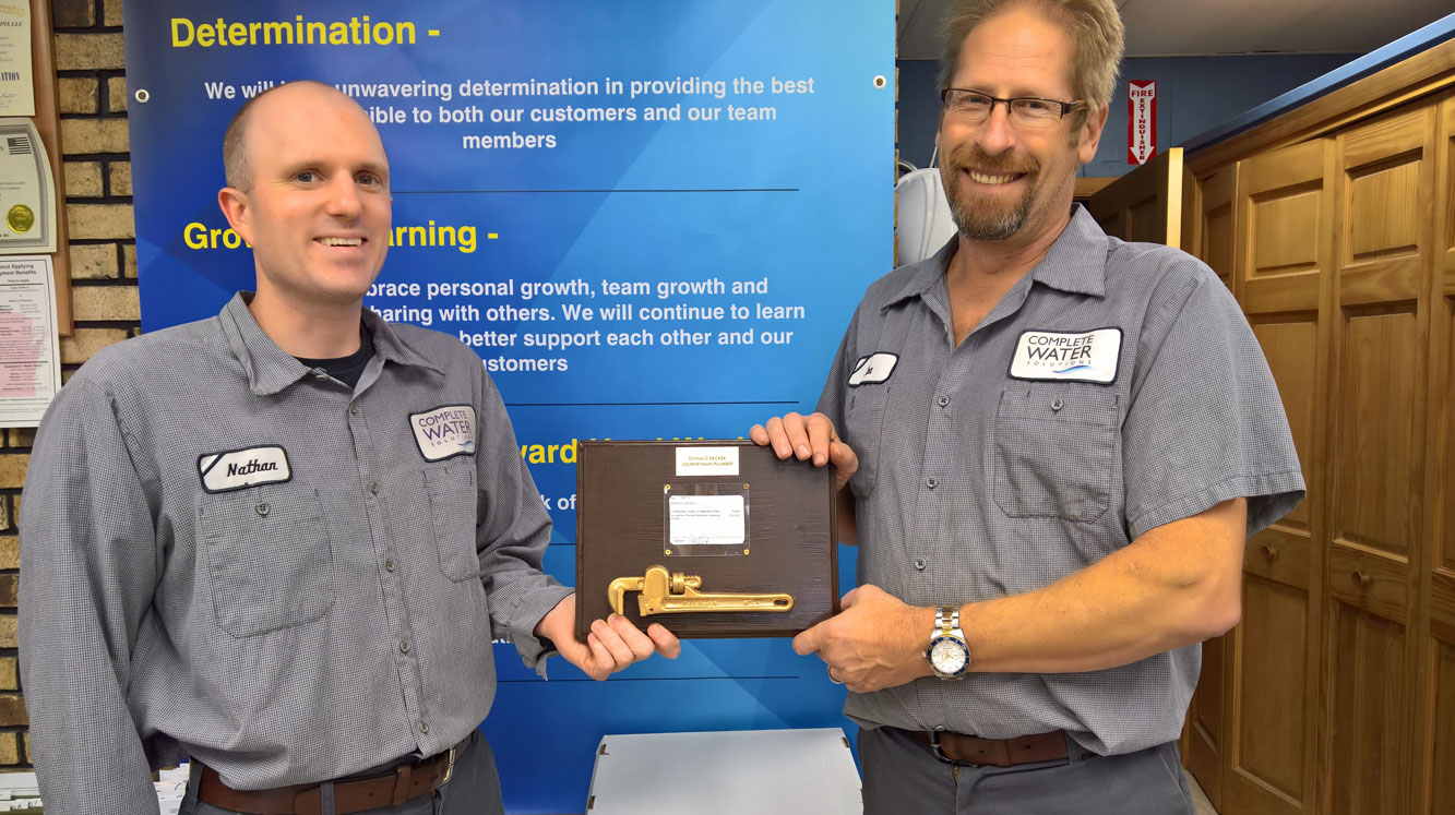 restricted plumbing license, award, nathan and don