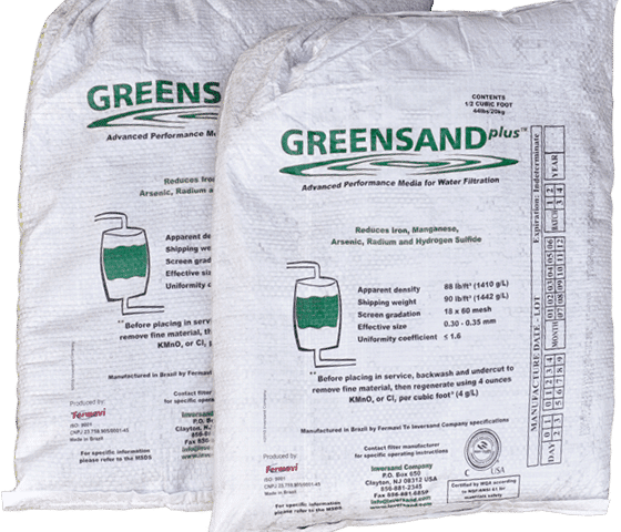 greensand plus, complete water solutions, greensand filter media