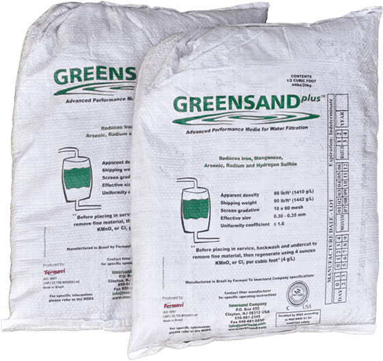 greensand plus, complete water solutions, greensand filter media, bags of greensand plus